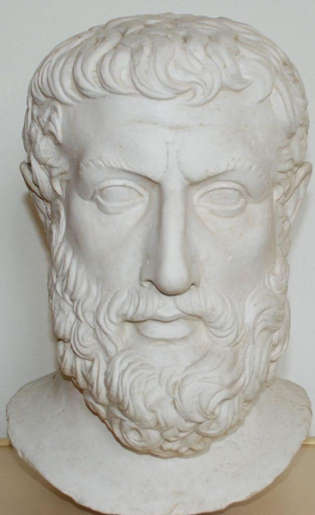 Portrét Parmenida z Velie